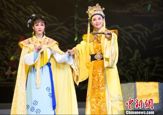 宁波市小百花越剧团有限公司《明州女子尽封王》剧照。主办方提供